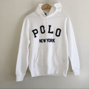 Men's Polo Ralph Lauren Pullover White Hoodie